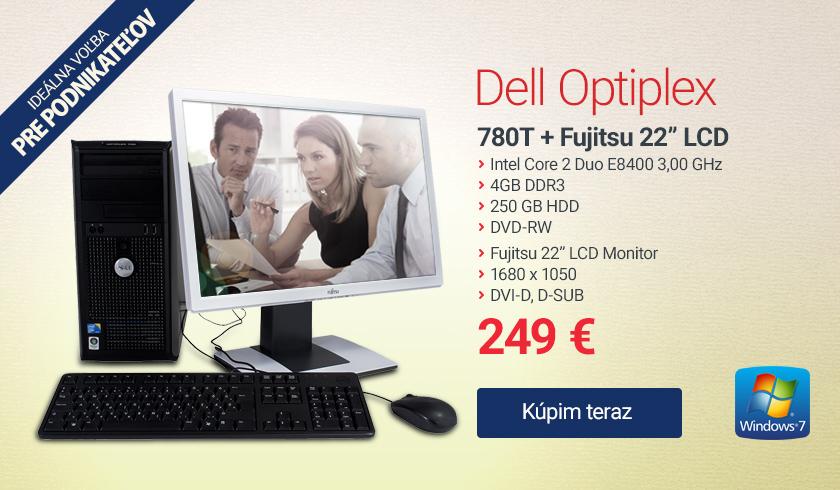 PC zostava Dell optiplex 780 t 22 fujitsu b22w 5